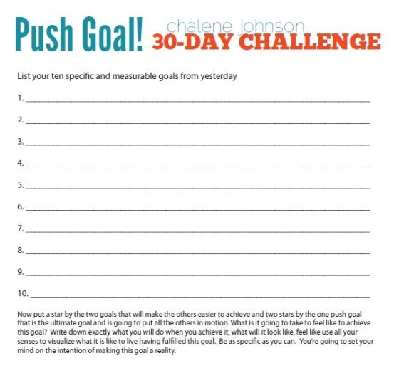 push goal